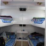 Bunk beds aboard M/Y Sakura