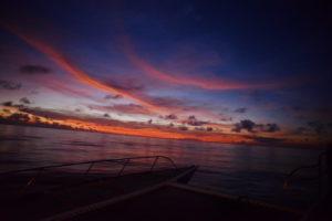 Tubbataha sunset from M/Y Sakura