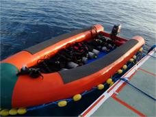 Tubbataha chase boat